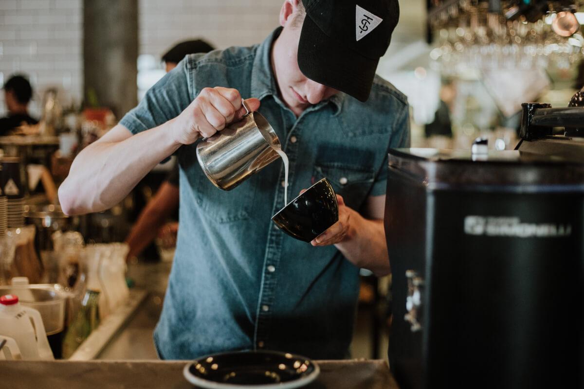 Кофейня, бариста