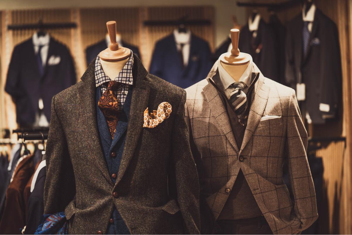 Мужской магазин одежды, манекены